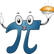 12575412 - illustration of a pi mascot carrying a pie