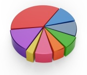 16701423 - set of different pie chart on isolated background