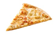 26245658 - slice of cheese pizza close-up isolated on white background